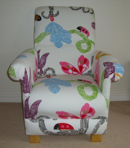 Ikea Evalena Fabric Armchair Nursery Ladybird Bedroom