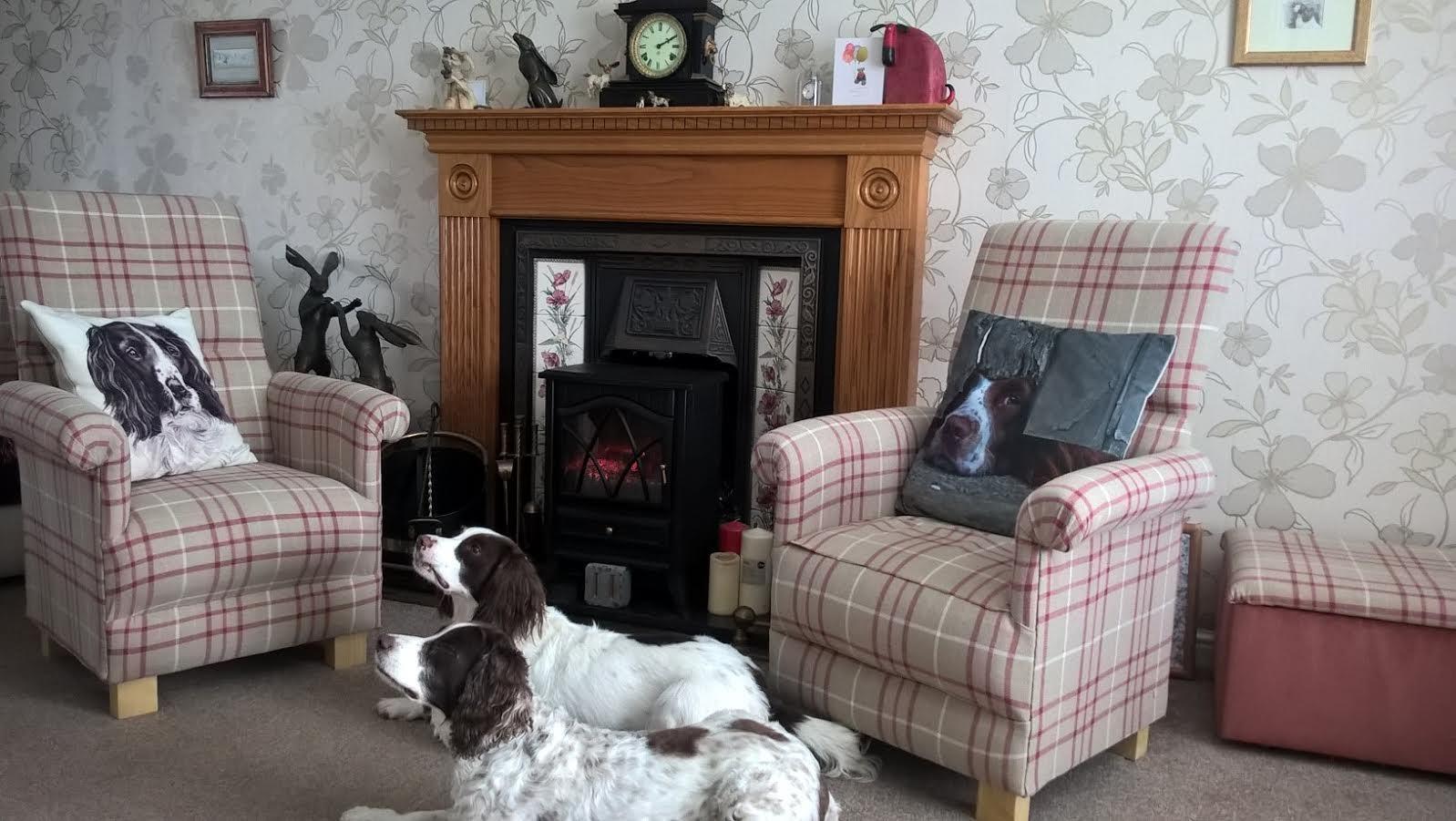 Laura Ashley Keynes Fabric Chair Cranberry Grey Armchair Check Red - Laura ashley grey living room
