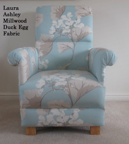 Laura Ashley Millwood Duck Egg Fabric Adult Chair Green Flowers Nursery  Occasional Kitchen