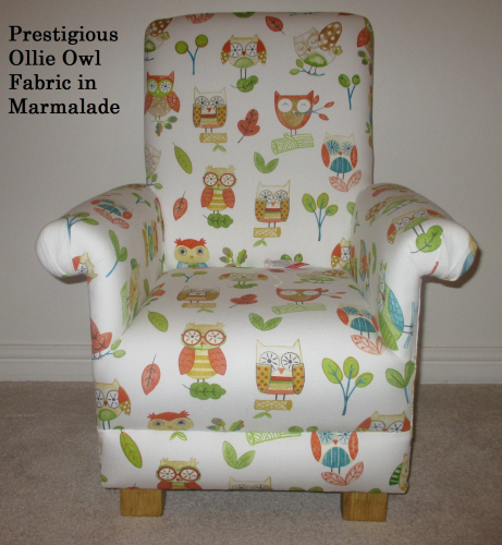 Prestigious Ollie Owl Fabric Childu0027s Chair In Marmalade Birds Woodland  Animals Nursery Kids