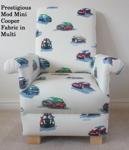 ... Prestigious Mini Cooper Multi Fabric Childu0027s Chair Cars Mod Kids  Bedroom Nursery