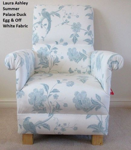 Laura Ashley Summer Palace Off White U0026 Duck Egg Fabric Adult Chair Green  Floral Armchair Nursery