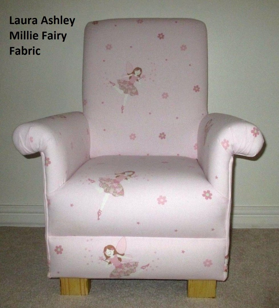 Laura Ashley Millie Fairy Fabric Childu0027s Chair Pink Girls Armchair Bedroom  Small ...