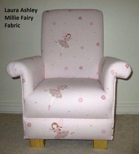 Laura Ashley Millie Fairy Fabric Childu0027s Chair Pink Girls Armchair Bedroom Small & Laura Ashley Millie Fairy Fabric Childu0027s Chair Pink Girls Armchair ...