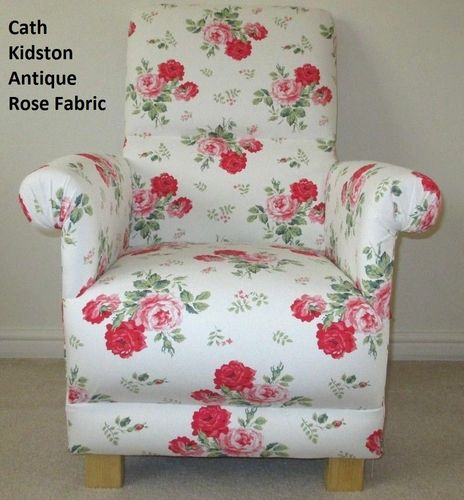 Cath Kidston Antique Rose Fabric Adult Chair Pink Floral Armchair Shabby  Chic Bedroom White Flowers