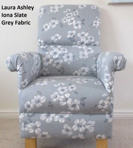 Fine Laura Ashley Iona Fabric Slate Grey Armchair Adult Chair Gmtry Best Dining Table And Chair Ideas Images Gmtryco