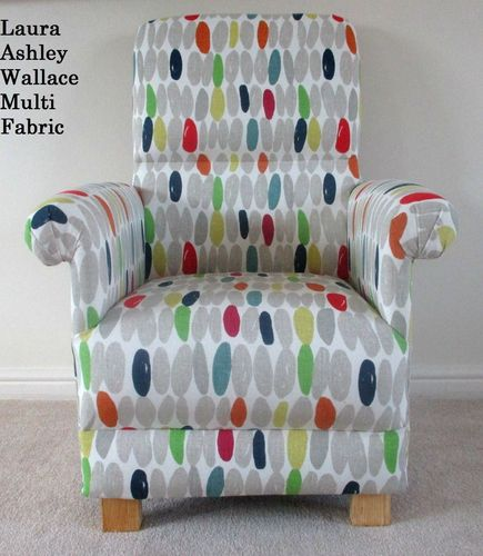 Laura Ashley Wallace Multi Fabric Adult Chair Nursery Occasional Grey Armchair Bespoke Accent
