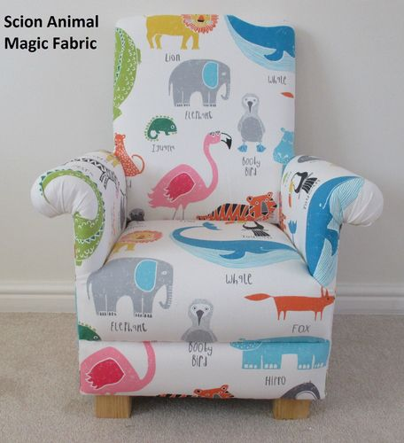 Harlequin Scion Animal Magic Fabric Adult Armchair Nursery