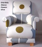 Orla Kiely Abacus Flowers Fabric Adult Chair Daisy Armchair Olive Mustard Grey Nursery Bedroom