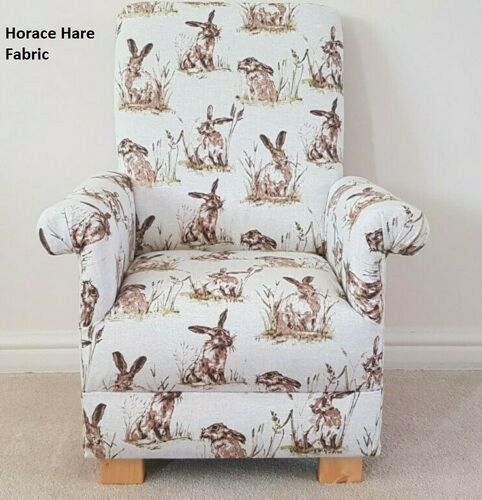 Horace Hare Fabric Child's Chair Children's Armchair Kids Rabbits Animals Beige