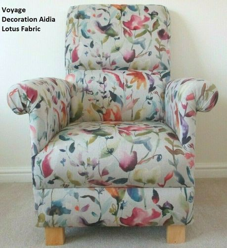 Accent Chair Voyage Decoration Aidia Lotus Fabric Armchair Floral Lounge